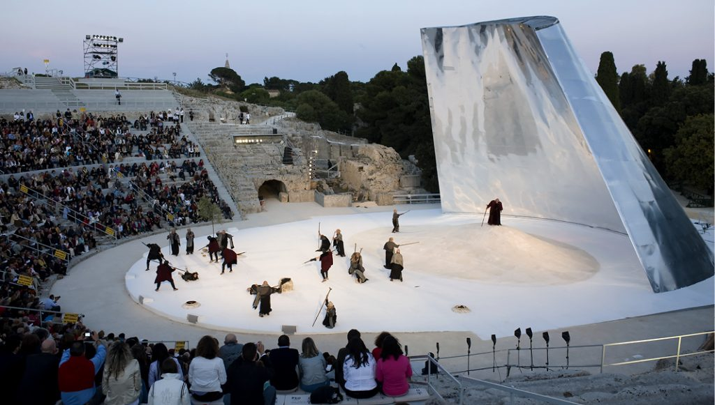 Scenography For Medea and Edipo a Colono, Greek Theatre – Siracusa, Italy
