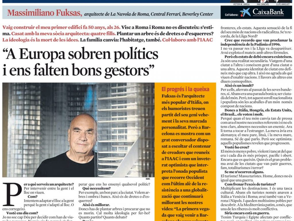 La Vanguardia 17.11.2018 Fuksas Interview