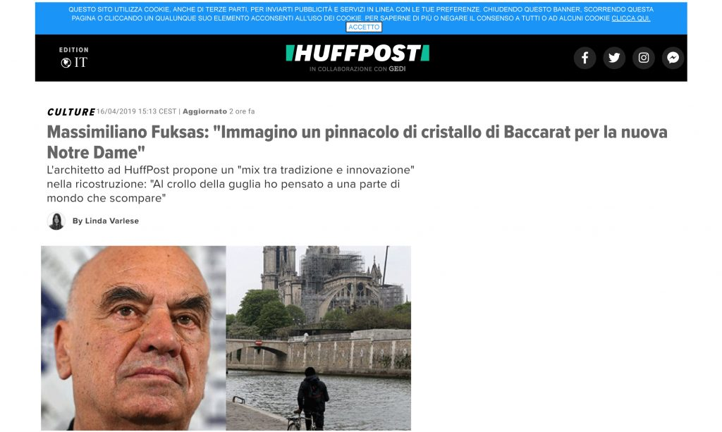 16.04.2019 Huffington Post Italia – Intervista a Massimiliano Fuksas
