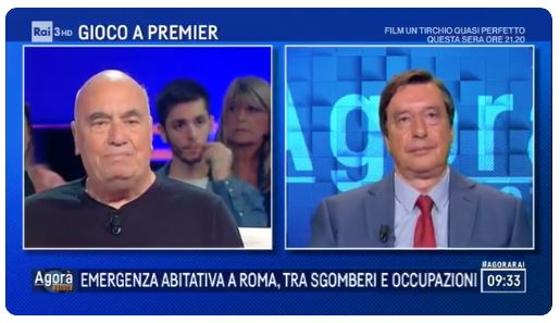 "16.07.2019 – Massimiliano Fuksas a ""Agorà Estate"" su Rai3"